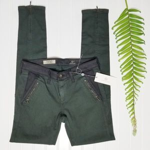 NWT Adriano Goldschmied The Willow Zip Jeans 25